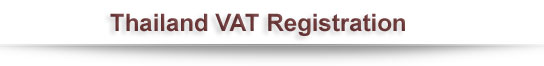 Thailand VAT Registration
