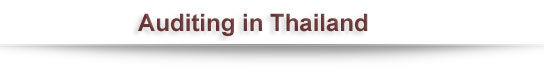 Auditing in Thailand